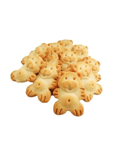 Grandma Lucys Dog Treat - shape of teddy bears are bite sized and easily breakable to feed smaller dogs.