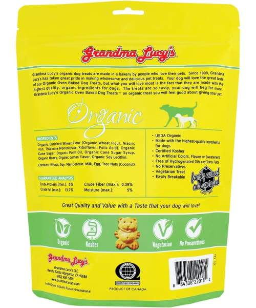 Grandma Lucys Organic Lemon Honey Oven-Baked Dog Treat - Dog Treat