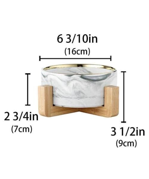 Japanese Raised Feeding Single Bowl For Cats & Dogs - Comfort Supplies