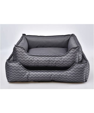 PawsnCollars Designer Collection Beds for Small and Medium Size Dogs - Grey - Comfort Supplies