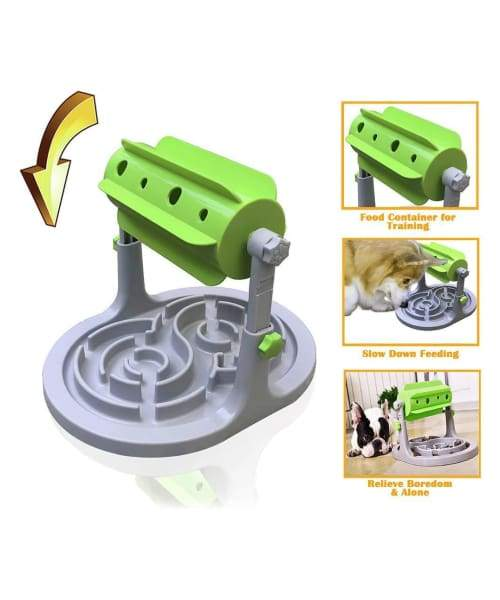 PawsnCollars Interactive Puzzle Slow Feeder Bowl For Cats & Dogs - Comfort Supplies