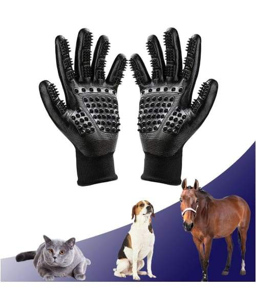 PawsnCollars Spa Grooming Glove and Massager For Cats & Dogs - Comfort Supplies