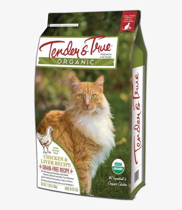 Tender & True Organic Chicken & Liver Recipe Dry Cat Food - Cat Food