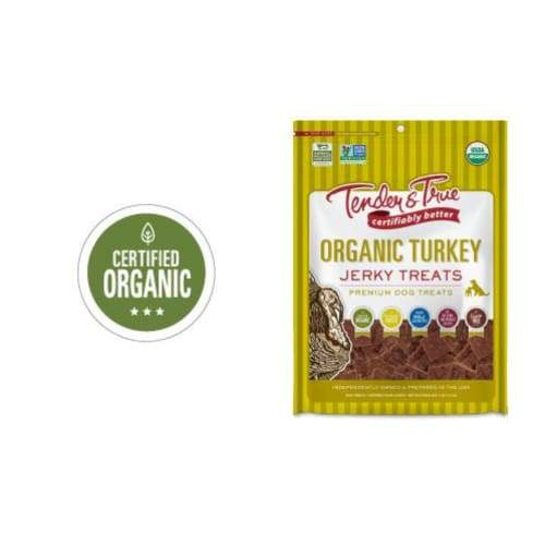 Tender & True Organic Turkey Jerky Dog Treat - 4 oz / 113 g - Dog Treat