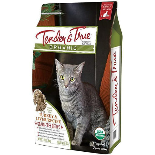 Tender & True Organic Turkey & Liver Recipe Dry Cat Food - Cat Food