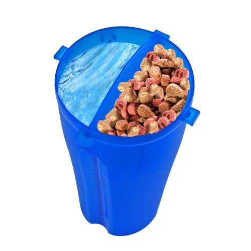 Volar Fashion 2-in-1 Pet Travel Feeder - Blue - Pet Supplies