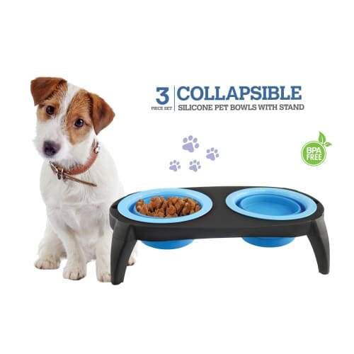 Volar Fashion Collapsible Silicone Bowl Set For Dog/Cat - Comfort Supplies