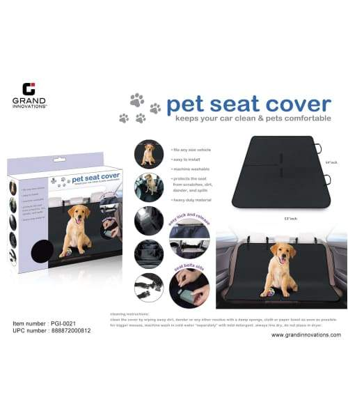 Volar Fashion Pet Black Seat Cover For Dog/Cat - Comfort Supplies