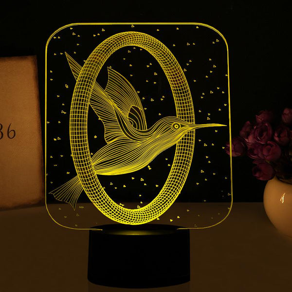 Hummingbird Color Changing 3d Illusion Lamp Nature Unboxed