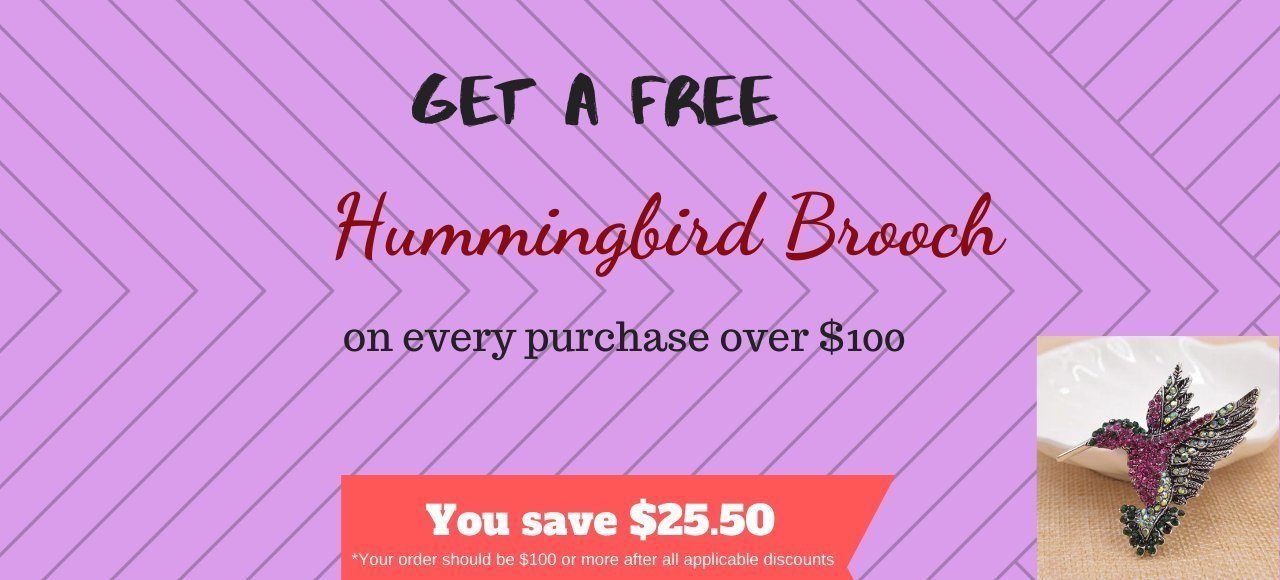 Free Bird Flower Pot on every purchase over $150
