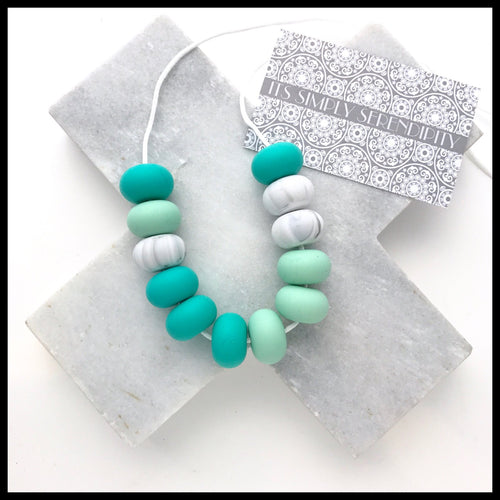 Bite Me • Turquoise• Mint • Grey Marble