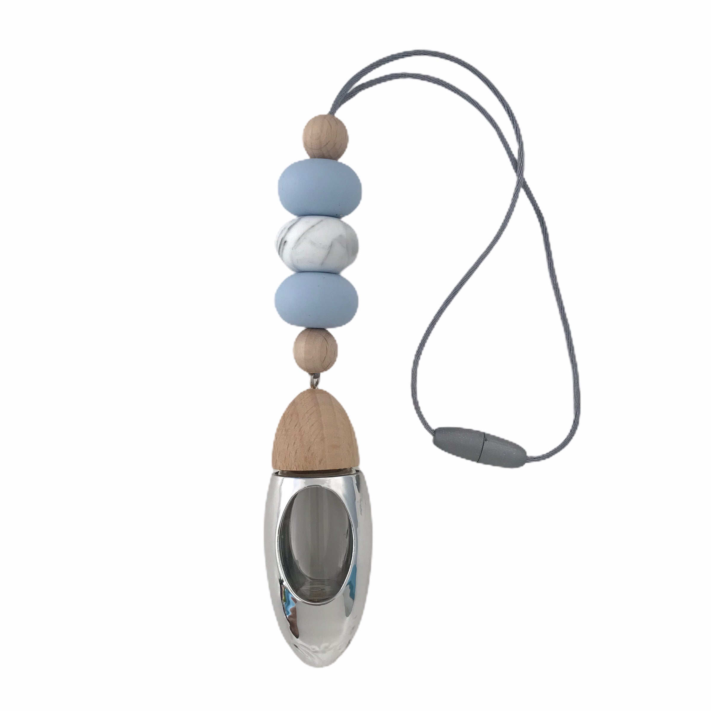 Fancy a Fragrance - Baby Blue & Grey Marble - Silver Diffuser