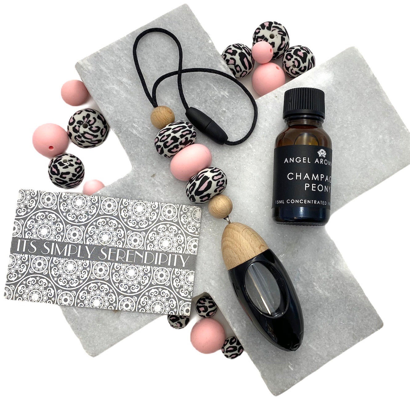 Fancy a Fragrance - Pink Leopard & Rose Quartz - Black Diffuser