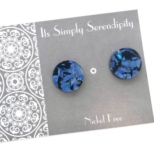 Statement Studs • Shimmer Shards • Blue •