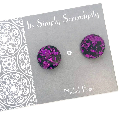 Statement Studs • Shimmer Shards • Purple •