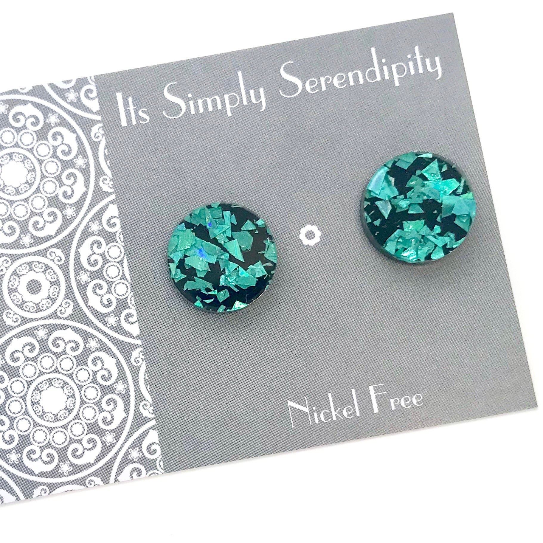 Statement Studs • Shimmer Shards • Green •