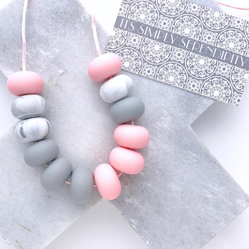 Bite Me • Baby Pink • Light Grey • Grey Marble