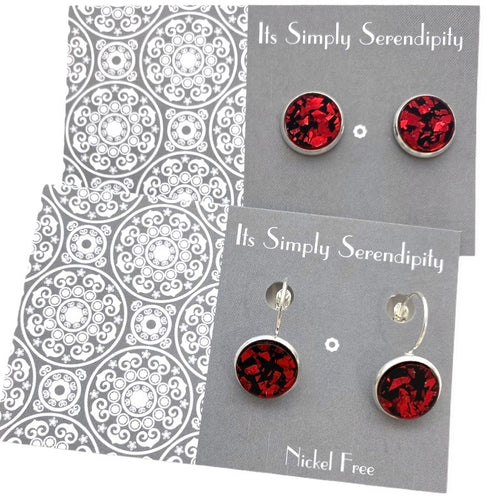 Shimmer Shards - Red - Bezel Set