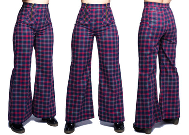 Nemisis Trousers In Fairway Navy Plaid