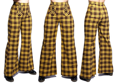 Nemisis Trousers In School Bus Yellow Plaid