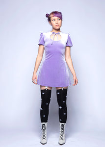 Anahata Mini Dress in Lavender Velvet