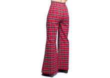 Nemisis Plaid Trousers In Red Windowpane Check