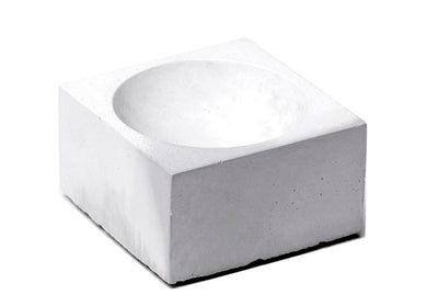 Square Incense Holder in Grey & White Marble