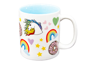 Unicorns Rainbows & Donuts Mug