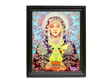 Virgin Pikachu Art Print