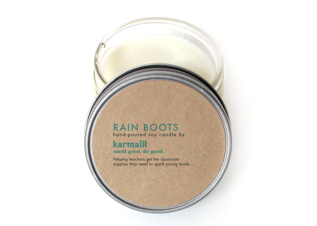 Rain Boots 4oz Soy Candle
