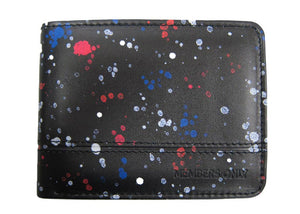 Black Splatter Printed Wallet