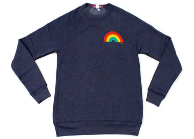Rainbow Sweatshirt in Navy