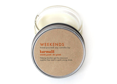 Weekends 4oz Soy Candle