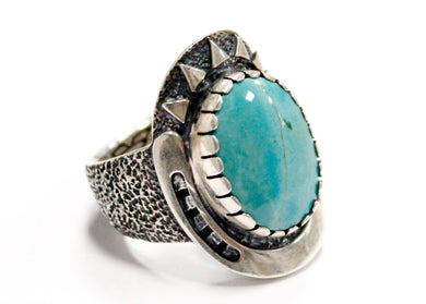 Good Karma Ring in Silver & Turquoise