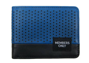 Royal Blue Perforated Wallet