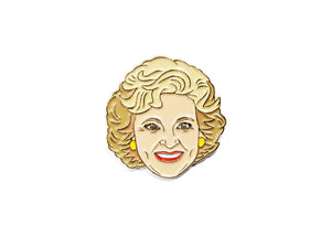 Betty White Enamel Pin