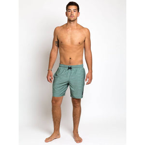 Recycled Swim Trunks in Sage Nomad Print