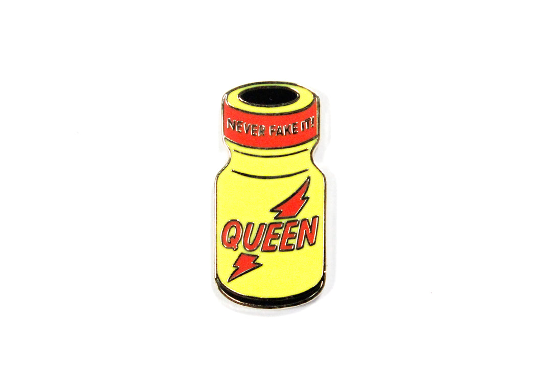 Queen Poppers Bottle Enamel Pin