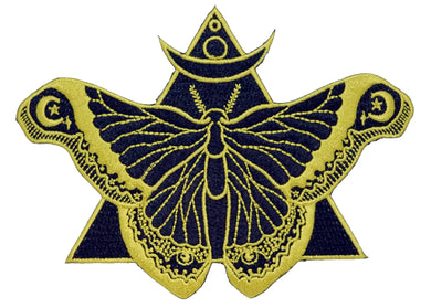 Black Moth Iron-On Patch