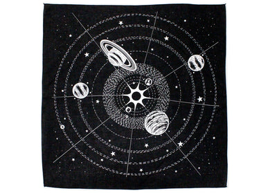 Solar System Bandanna in Black