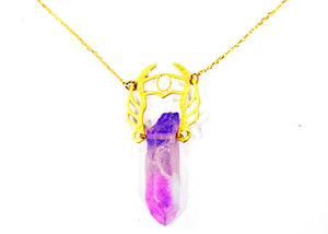 She-Ra Warrior Necklace in Indigo-Orchid Ombre