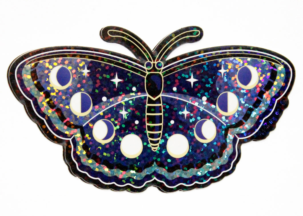 Lunar Butterfly Holographic Glitter Sticker
