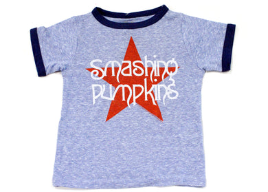 Smashing Pumpkins Retro Blue Star Kids Tee