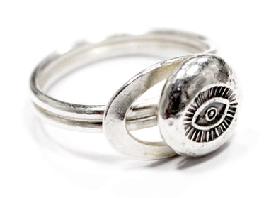 Eye Of The Needle Ring In Sterling Silver