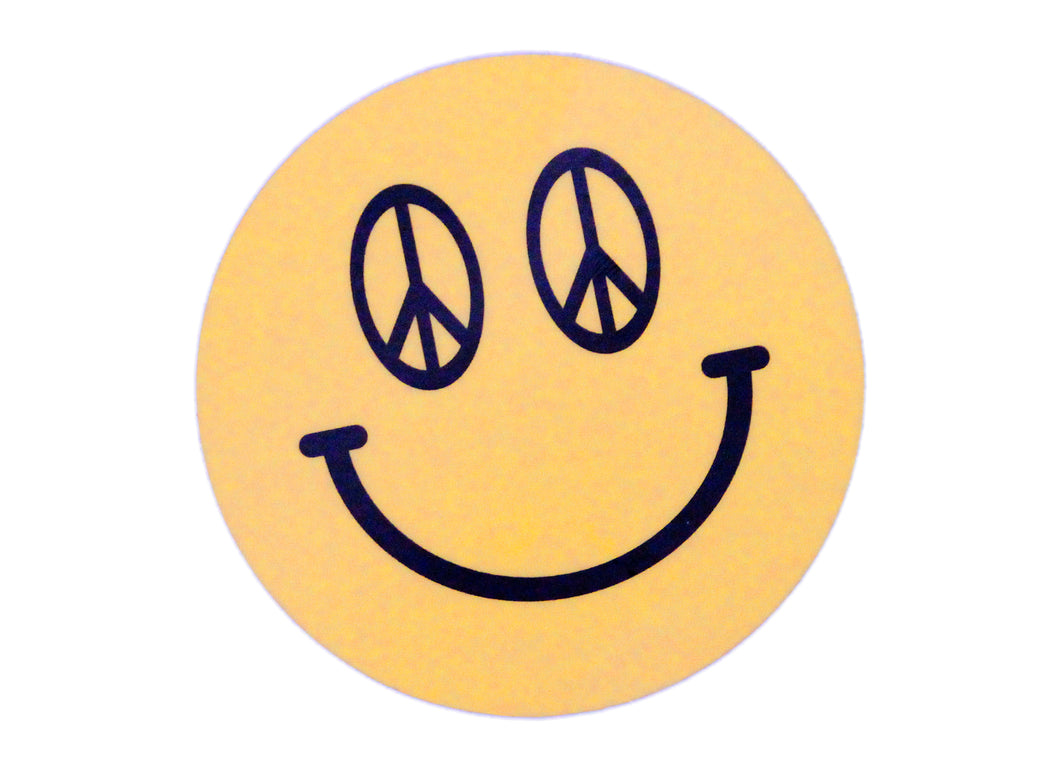Peace Sign Smiley Sticker