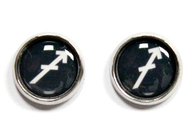 Sagittarius Zodiac Round Stud Earrings