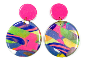 Handmade Clay Earrings #6