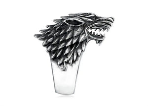 Dire Wolf Ring in Stainless Steel