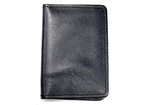 Leather ID Case in Navy