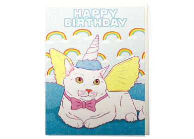 Meow-Gical Creature Birthday Card